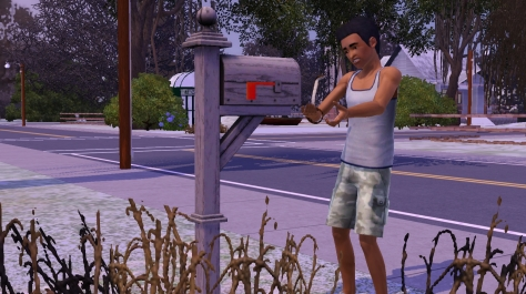 Ari finds a snake next to his house